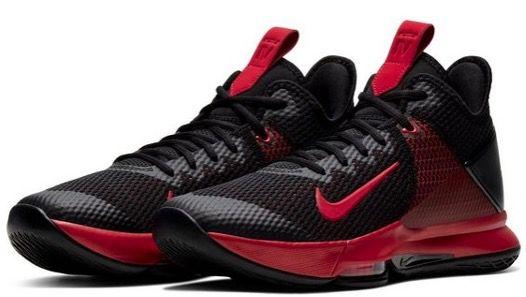 NIKE LeBron Witness 4 Basketballschuh in Schwarz Rot für 58,90€ (statt 84€)