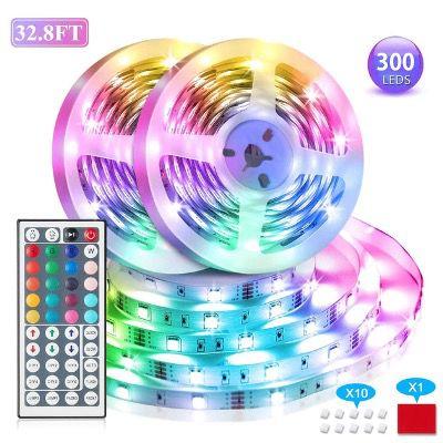 VOYOMO LED Streifen 2x 5 Meter RGB 300LEDs und Fernbedienung für 14,99€ (statt 25€)