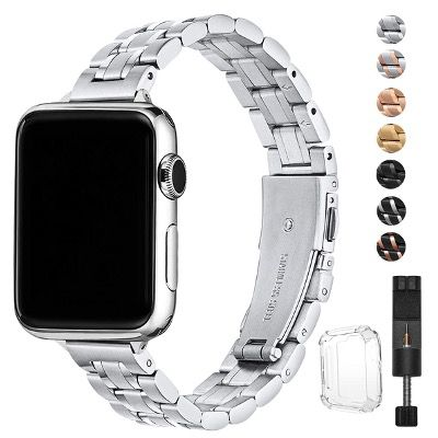 HEKAI Edelstahl Uhr Armbänder kompatibel zu Apple Watch ab 10,99€ (statt 22€)