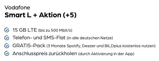 iPhone SE (2020) 64GB + AirPods 2 mit kabellosem Ladecase für 49,95€ + Vodafone Flat mit 15GB LTE für 34,99€ mtl.