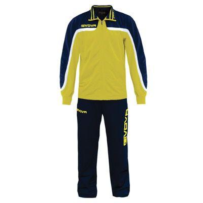 Givova Tuta Europa Full Zip Trainingsanzug in Gelb für 13,94€ (statt 20€)