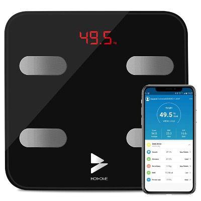 Yuanguo digitale Körperfettwaage mit App Anbindung mit 17 Körperdaten für 14,99€ (statt 30€)