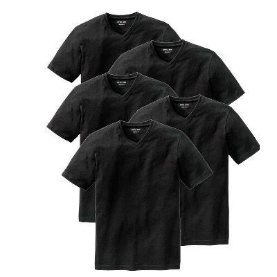 5er Pack OTTO KERN T-Shirts in Weiß oder Schwarz mit V-Neck für 29,99€ (statt 40€) – bis 4XL