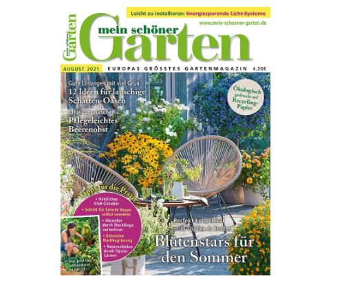 """12 Ausgaben """"Mein schöner Garten"""" für 50,40€ + Prämie: 30€ Verrechnungsscheck"""