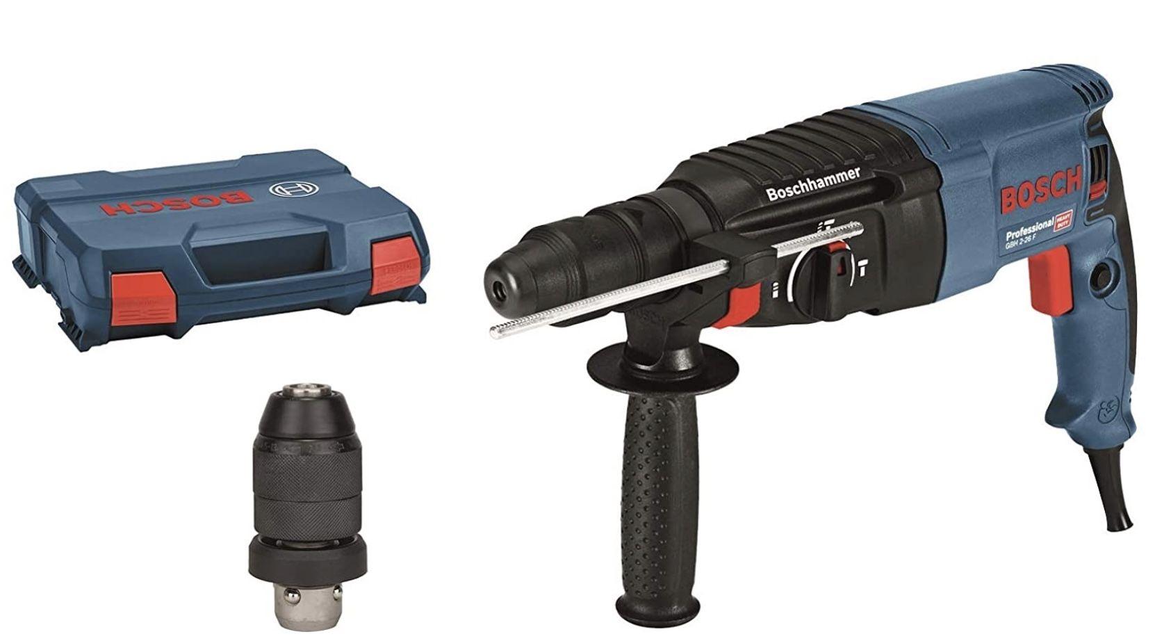 Bosch GBH 2 26 F Professional Bohrhammer Set inkl. Wechselfutter SDS plus & Koffer für 123,99€ (statt 159€)