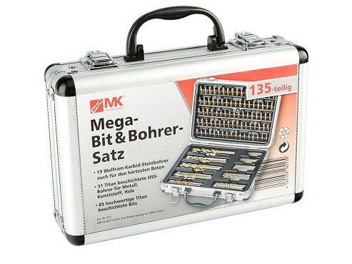 MK Handel Mega Bit und Bohrerset 135 teilig für 19,99€ (statt 26€)