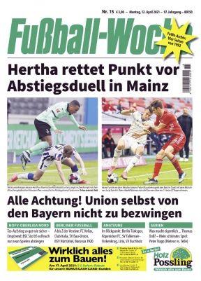 12 Ausgaben Fußball Woche für 36€   Prämie: 35€ BestChoice Gutschein