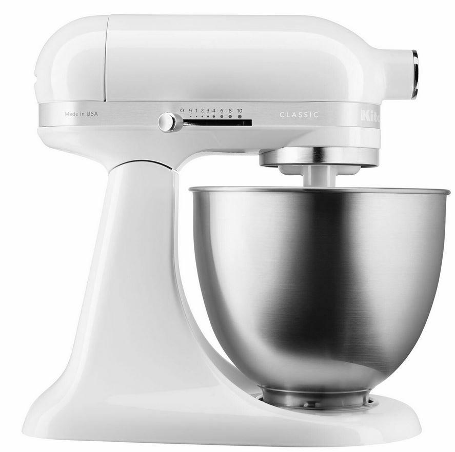 KitchenAid 5KSM3310XEWH Classic Mini Küchenmaschine für 206,10€ (statt neu 263€) – refurb.
