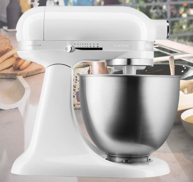 KitchenAid 5KSM3310XEWH Classic Mini Küchenmaschine für 206,10€ (statt neu 263€)   refurb.