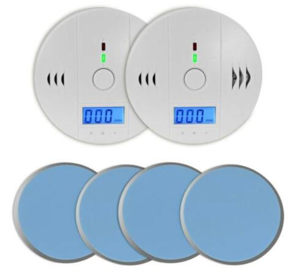 Eaxus 82390 Doppelpack Kohlenmonoxidmelder + Magnetpads für 19,99€ (statt 25€)