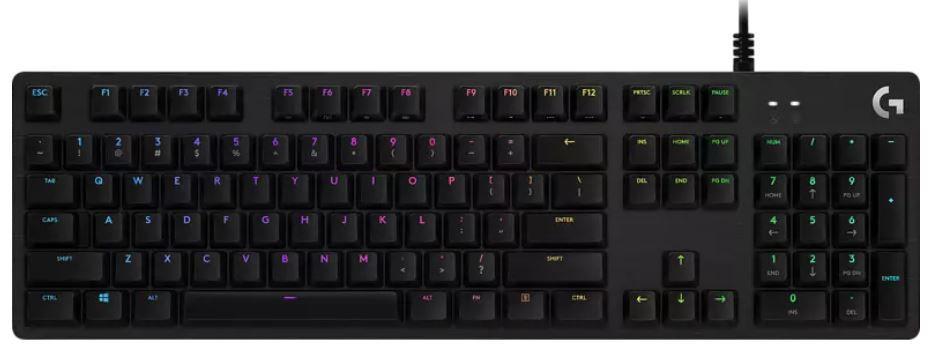 Logitech G512 Carbon mechanische RGB Gaming Tastatur für 79,99€ (statt 109€)