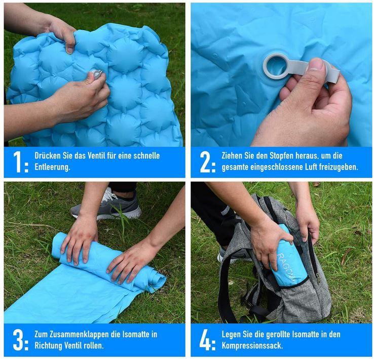Ragova Isomatte Camping Selbstaufblasbare Campingmatte für 23,39€ (statt 39€)