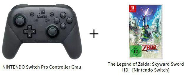 Nintendo Switch Pro Controller + The Legend of Zelda: Skyward Sword HD für 93,87€ (statt 106€)