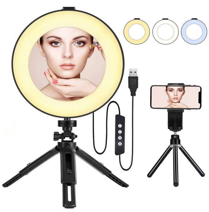BESTOPE Selfie und Schmink Ringlicht für 8,99€ (statt 18€)   Prime
