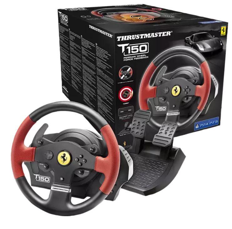 THRUSTMASTER T150 Ferrari Edition Lenkrad inkl. 2 Pedalset (PS4, PC) ab 129,99€ (statt 168€)
