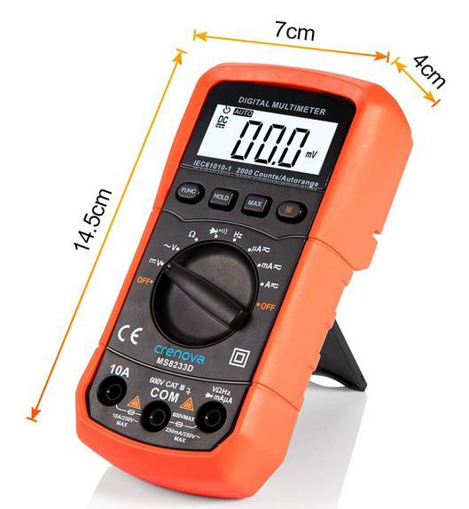 Crenova MS8233D Digital Multimeter für 17,99€ (statt 25€) Prime