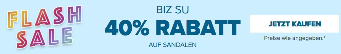 Crocs Flash Sale mit 40% Rabatt auf ausgewählte Sandalen & Co.