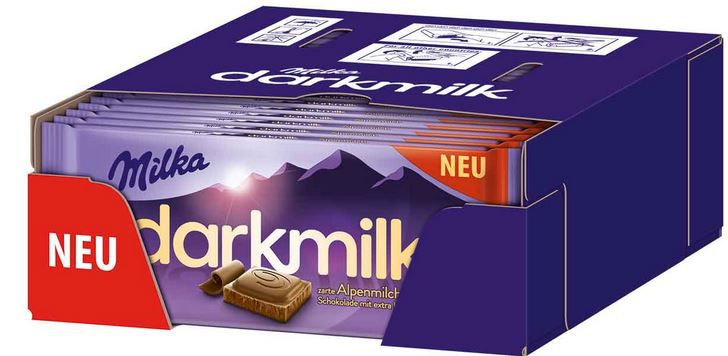 Milka darkmilk Alpenmilch Schokolade 25 x 85g für 14,97€ (statt €30)