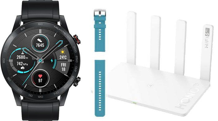 Honor MagicWatch 2 (46mm) + Honor Router 3 + EasyFit Armband für 139,90€ (statt 262€)