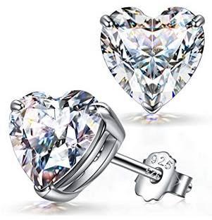 FANCI Ohrringe in Herzform aus 925 Sterling Silber für 11,99€ (statt 23€) – Prime