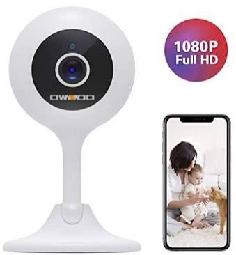 OSWOO 1080p WLAN Überwachungskamera für 14,99€ (statt 22€)