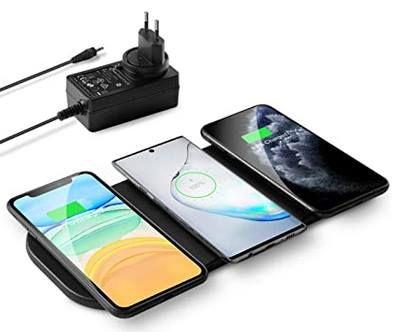 zealsound 3x10W Qi Ladestation für 3 Geräte inkl. 36W Adapter für 21,49€ (statt 43€)
