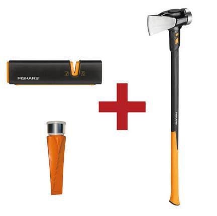Fiskars IsoCore Spalthammer XXL + Dreh Spaltkeil SAFE T + XSharp Axt  & Messerschärfer für 99,90€ (statt 115€)