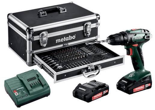 Metabo 18V Akku Bohrschrauber BS 18 Set inkl. 2x 2,0 Ah Akku & Koffer mit Zubehör für 139,41€ (statt 158€)