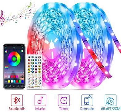 2x 10m Tasmor LED Streifen mit App Steuerung & Fernbedienung für 27,99€ (statt 40€)