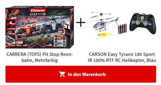 Carrera GO!!! Plus Pit Stop Rennbahn + RC Helikopter für 81,22€ (statt 139€)