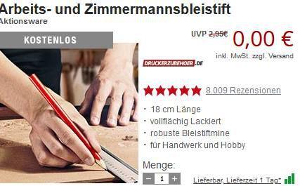 Druckerzubehör: heute 10€ Gutschein ab 39,99€ + 1 Gratis Artikel bis Mitternacht
