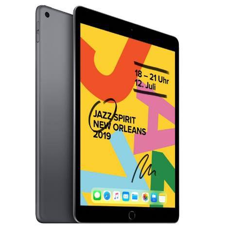 Apple iPad (2019) 128GB WiFi in Schwarz oder Gold für je 413,10€ (statt 439€)
