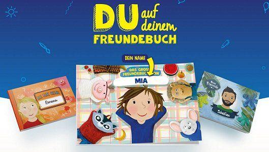Mit Kauf von Kinder Schokolade personalisiertes Freundebuch gratis abholen
