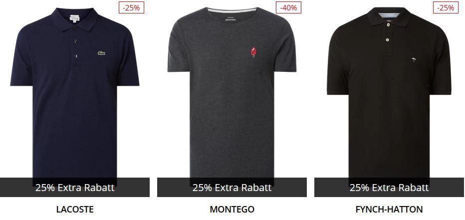 Knaller! Peek & Cloppenburg* Weekend Sale bis 73% Rabatt + 25% Extra Rabatt   z.B. auf Lacoste oder Hilfiger