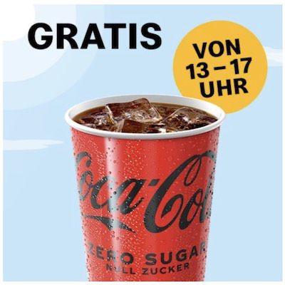 McDonalds Sommerdeals: Heute gratis 250ml Coca Cola Zero Sugar bis 17 Uhr
