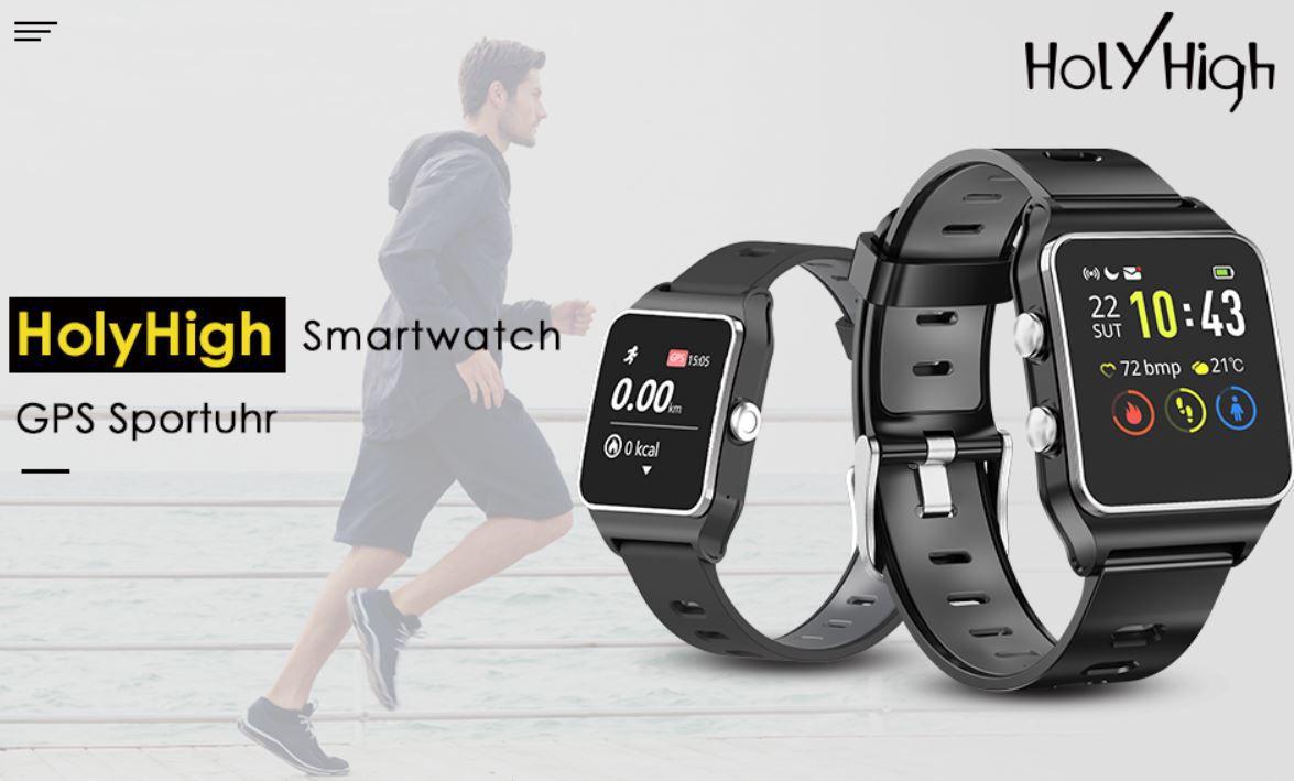 Abgelaufen! HolyHigh Smartwatch & GPS Sport Tracker für 20€ (statt 80€)