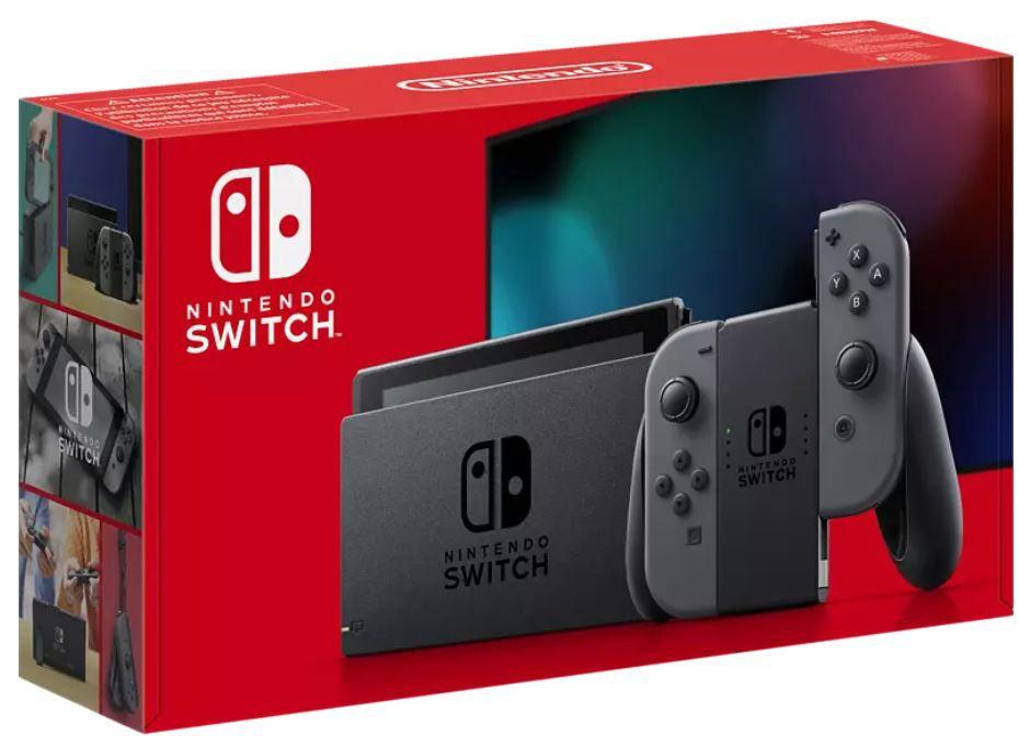 Nintendo Switch Konsole (neues Modell) in Grau für 309,37€ (statt 336€)