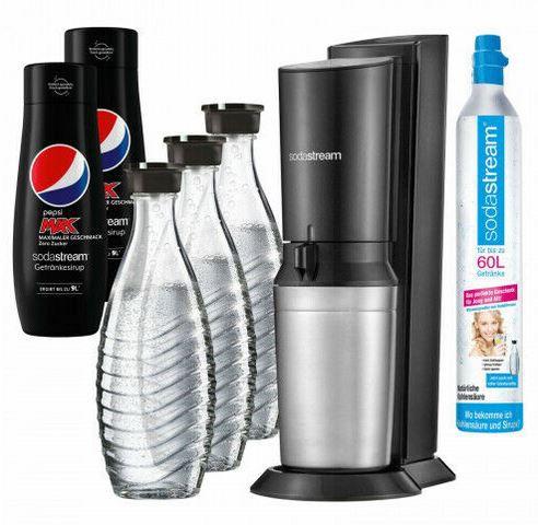 SodaStream Crystal 2.0 + 3 Glaskaraffen & Zylinder + 2 x Pepsi für 99,99€ (statt 110€)