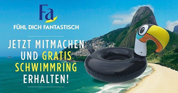 Vorbei! Kostenlosen Schwimmring beim Kauf von Fa, Syoss oder Schauma Produkten