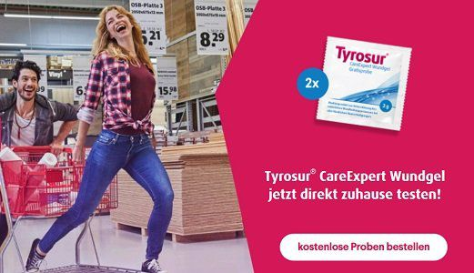 Gratis Tyrosur® CareExpert Wundgels anfordern