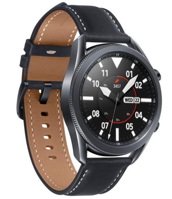 Samsung Galaxy Watch 3 Smartwatch 45mm Mystic Black für 249,90€ (satt 275€)