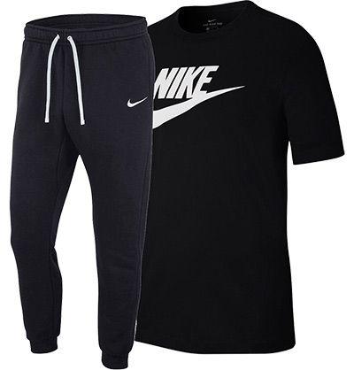 Nike Freizeit Outfit bestehend aus T Shirt & Jogginghose aus Baumwolle für 38,99€ (statt 44€)