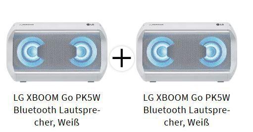 LG XBOOM Go PK5W Bluetooth Lautsprecher Doppelpack ab 103,89€ (statt 200€)
