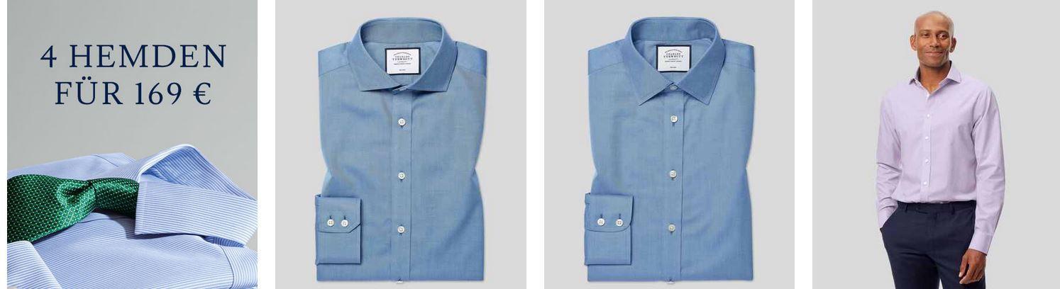 Top! 4 Charles Tyrwhitt Hemden für 92€ (statt 169€) VSK frei ab 75€