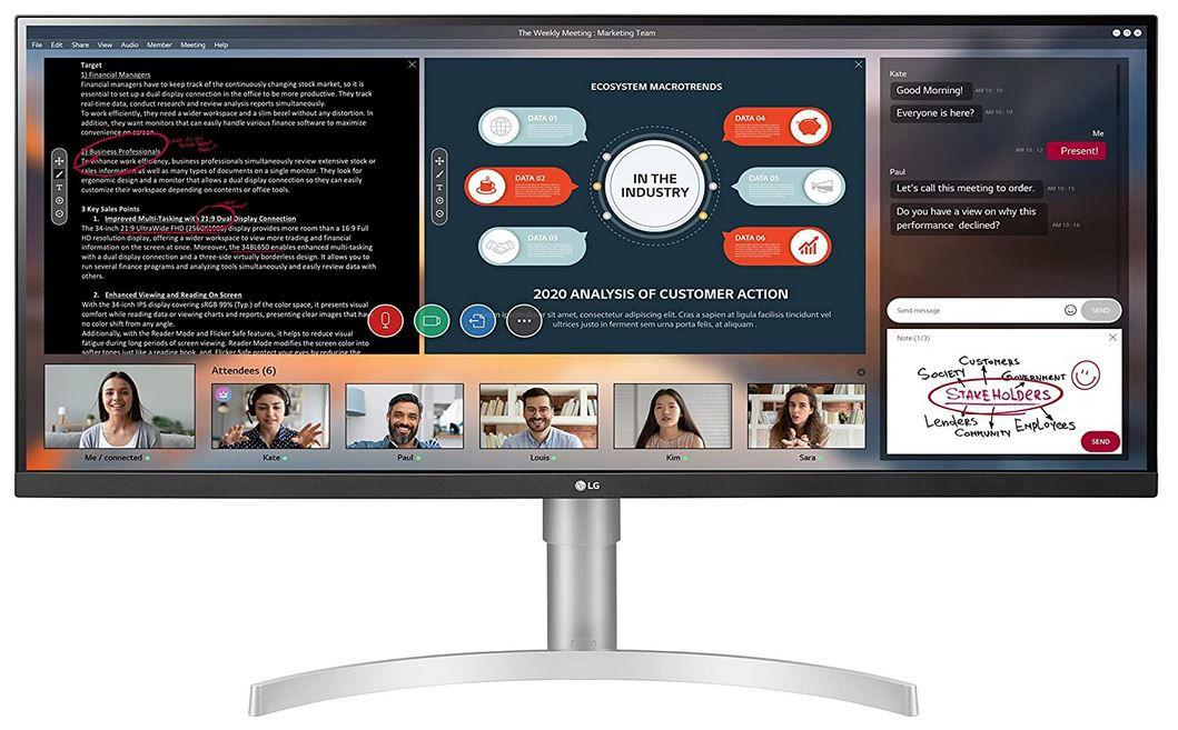 LG 34WN650   34 Zoll  IPS Ultrawide Monitor für 288,23€ (statt 349€)