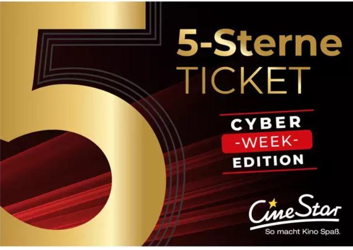 Günstiger CineStar Gutschein: 5 x Eintritt für nur 27,50€