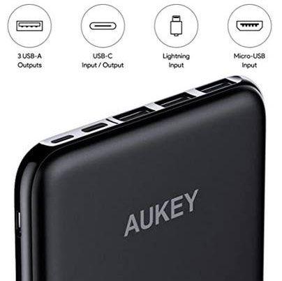 Aukey PB Y14   20.000mAh Powerbank mit 4 Aus  & 3 Eingängen für 23,99€ (statt 40€)