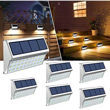 6er Pack: JSOT LED Solar Außenlampen für 28,19€ (statt 47€)
