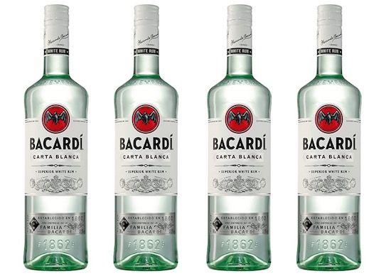 4x Bacardi Carta Blanca Rum je 700ml für 38,97€ (statt 49€)