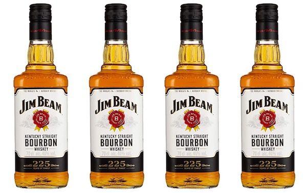 4 Flaschen Jim Beam White Kentucky Straight Bourbon Whiskey für 37,44€ (statt 46€)